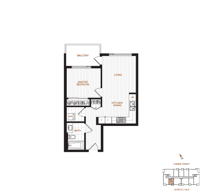 Livingstone House by Intercorp Projects Ltd. Floor Plan A 1 Bedroom